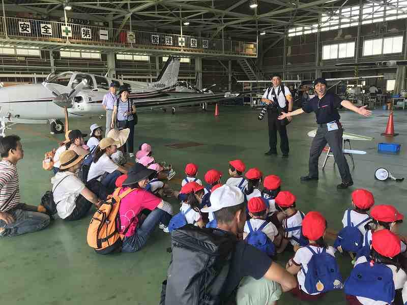 園外保育の一環で大阪市立六反幼稚園の皆さんが来訪