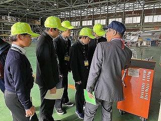 「社会探求」フィールドワークで富田林中学校の生徒5名が来訪